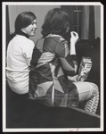 Two Students in Moulton Theater, Westbrook Junior College, 1967