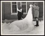 Winter Weekend, Snow Sculpture, Westbrook Junior College, 1965