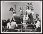 Students on Jungle Gym, Crescent Beach, Westbrook Junior College, 1968