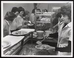 Serving Line in Alexander Hall, Westbrook Junior College, 1963
