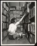 Student in Library, Proctor Hall, Westbrook Junior College,1965