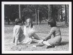 Three Students on The Green, Westbrook Junior College, ca.1966