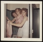 Three Students in Bathroom, Westbrook Junior College, ca.1962