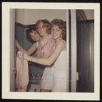 Three Students in Bathroom, Westbrook Junior College, ca.1962