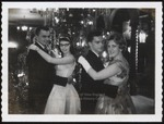 Two Couples at Christmas Weekend Dance, Wing Lounge, Westbrook Junior College, 1961
