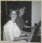 "Two Seniors Play a Piano ""Off Hours"", Westbrook Junior College, 1962"