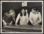 Three Students Cutting a Pattern, Westbrook Junior College, 1969