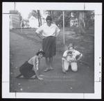 Three Students Participate in Freshmen Initiation, Westbrook Junior College, 1965