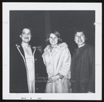 Three Students in Coats, Westbrook Junior College, 1965