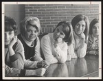 Five Students Leaning on Their Elbows, Westbrook Junior College, 1967