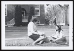 Two Students Sitting on the Curb, Westbrook Junior College, 1969