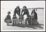 Seven Students in the Sand, Westbrook Junior College, 1968