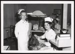 Two Dental Hygienists with Patient, Westbrook Junior College, 1968