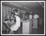 Dental Hygiene Students Working in the Clinic, Westbrook Junior College, ca. 1962