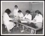 Four Dental Hyiene Students in Lab, Westbrook Junior College, 1960s