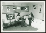 Two Westbrook College Students Pose in Dormitory Room, 1974