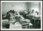 Fourteen Students in Proctor Hall Typing Room, Westbrook College, 1970s