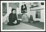 Two Students Lounge on Beds in Their Dorm Room, Westbrook College, 1978