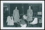 Fashion Merchandising Students Hem Dresses, Westbrook College, 1970s