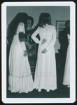Two Students in Pale Maxi Dresses, Westbrook College, 1970s
