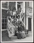 Thirty-One Students on Proctor Hall Steps, Westbrook College, 1970s