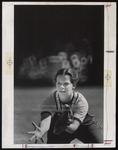 Focused Baseball Outfielder, Westbrook College, 1970s by Ellis Herwig Photography
