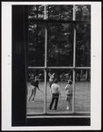 Lacrosse Game Behind Alumni Hall, Westbrook College, 1970s by Ellis Herwig Photography