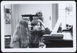 Two Students at Piano, Westbrook College, 1970s