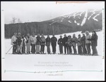 Sixteen Skiiers and Coach, Westbrook College, Early 1970s by Chip Carey