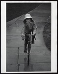Bike Riding in the Rain, Westbrook College, 1970s by Ellis Herwig Photography
