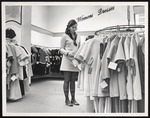 Fashion Merchandising Student in Womens Dresses, Westbrook College, 1960s, 70s