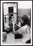 Medical Technology Student at Coulter Counter, Westbrook College, 1970s