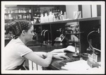 Medical Technology Student at Laboratory Bench, Westbrook College, 1970s