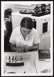 Medical Technology Student with Test Tubes, Westbrook College, 1970s