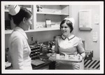 Two Nursing Students with Meds Tray, Westbrook College, 1970s