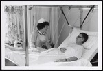Nursing Student and Patient with Healing Leg, Westbrook College, 1970s