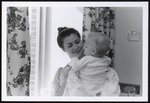 Nursing Student Holds Baby, Westbrook College, 1970s