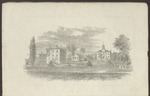Westbrook Seminary, Campus Engraving, ca. 1862 by Richardson