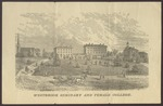 Westbrook Seminary and Female College, Engraving, ca.1870